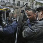 Protestan en Francia contra Emmanuel Macron