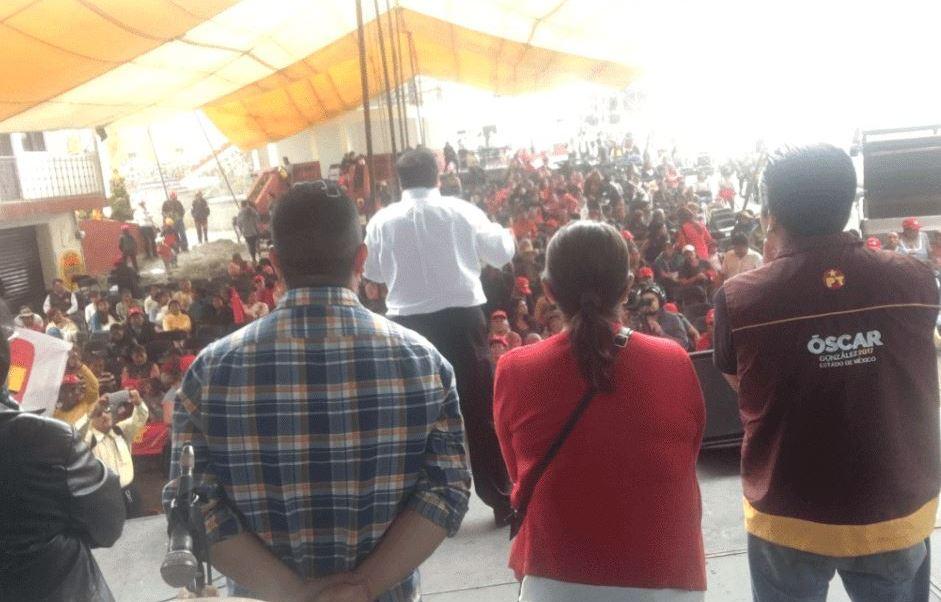 Candidato pt edomex, Oscar gonzalez, Partido trabajo edomex, Pt, Partido trabajo edomex, Elecciones estado mexico