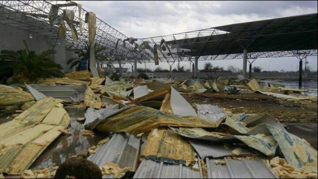 Puente Internacional en Nuevo Laredo, afectado por una tormenta