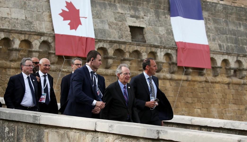 El ministro de Finanzas de Italia se encamina a la reunión del G7