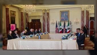 Reunión de las delegaciones de México y Estados Unidos en Washington