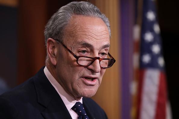 El líder demócrata en el Senado, Chuck Schumer, pidió que Trump suministre cualquier grabación (Getty Images/Archivo)