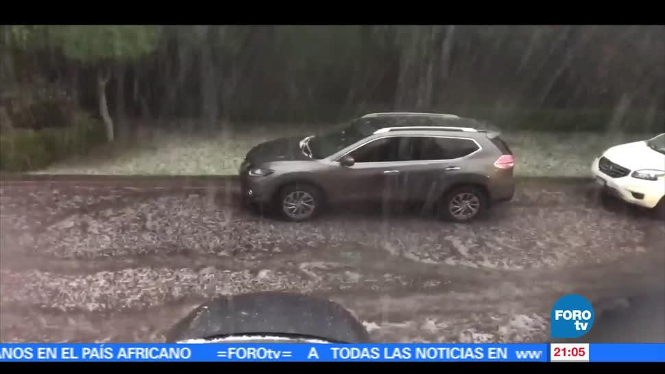 intensa, lluvia, Sur, CDMX, granizada, Ciudad de méxico