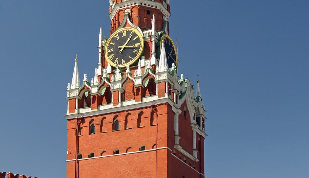 Torre Spasskaya Kremlin Moscú Rusia Putin