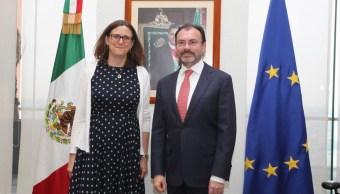 Luis videgaray, Malmstrom, Acuerdo Global, Europa, Mexico, Noticias