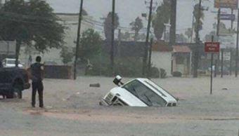 Tornado provoca apagón en puente internacional de Tamaulipas