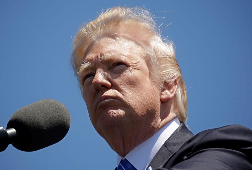 El presidente Donald Trump en el Capitolio (Reuters)