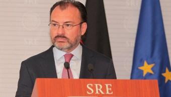 El canciller Luis Videgaray habló sobre la renegociación del TLCAN. (Notimex)