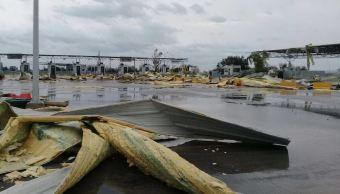 Tornado provoca apagón en Tamaulipas y daña Puente Internacional 3 Las américas
