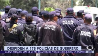 Secretaría de Seguridad Pública, Guerrero, 176 policías estatales, paro de labores