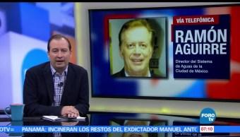 Ramón Aguirre, Sistema de Aguas, infraestructura, inundaciones, Ciudad de México