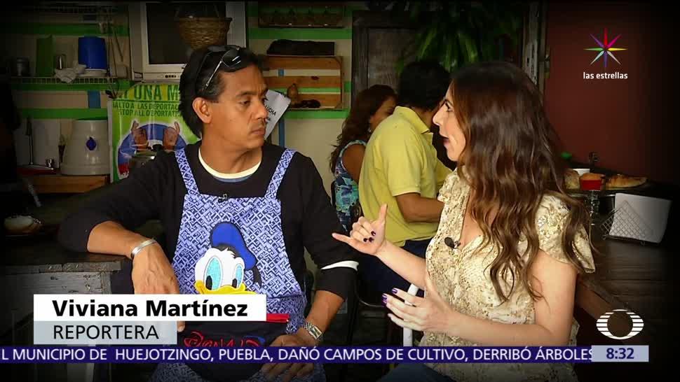 migrantes repatriados, trabajo, cafetería, Metro Pantitlán, Ciudad de México