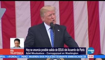 noticias, forotv, EU, posible salida, Acuerdo de París, Ariel Moutsatsos
