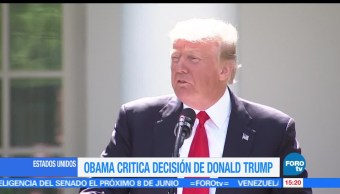 noticias, forotv, Obama, lamenta, salida de EU, Acuerdo de París