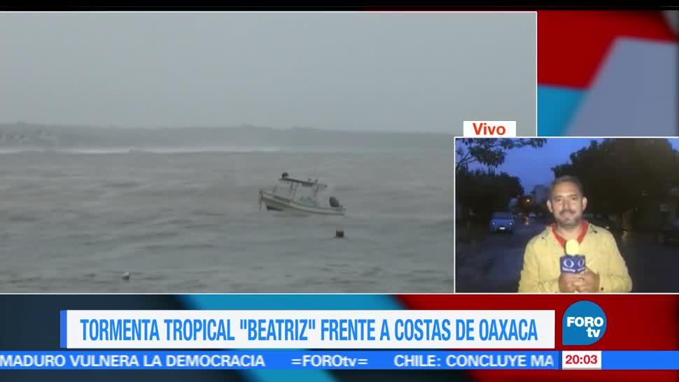 Aumenta, alerta, Oaxaca, Tormenta, tropical, Beatriz