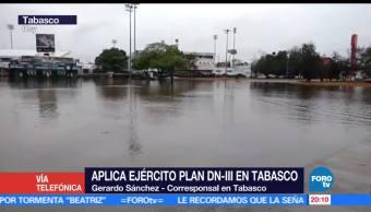 Ejército, aplica, plan DN-III, Tabasco, villahermosa, ayuda a damnificados