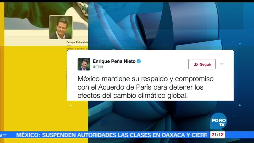 EPN, refrenda, compromiso, Acuerdo de París, cambio climatico, medio ambiente