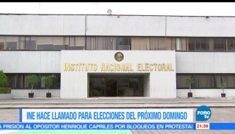 INE, llamado, elección, 4 de junio, votantes, elecciones
