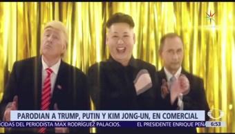 Parodia, Trump, Putin , Kim Jong-un