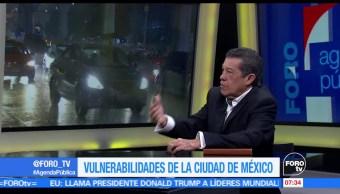 Rafael Cardona, analista político, Vulnerabilidad, lluvias CDMX