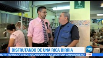 Viernes Culinario, Birria tatemada, caldo, Enrique Muñoz