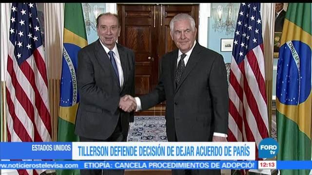 Rex Tillerson, defienden, Acuerdo de París, Estados Unidos