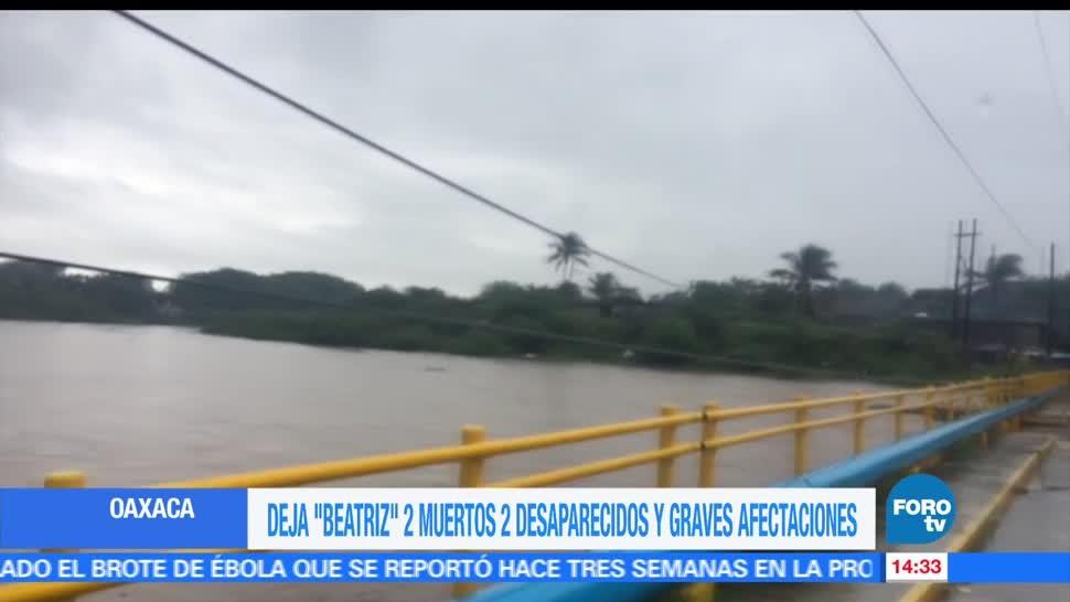 Desbordan, ríos, Oaxaca, remanentes de 'Beatriz', afectaciones, tormenta tropícal
