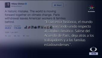 Error histórico, Acuerdo París, Hillary, Clinton, Estados Unido, cambio climático