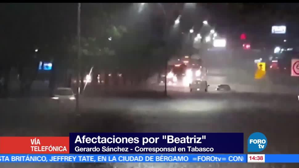 Lluvias, Beatriz, afectan, colonias en Villahermosa, afectaciones, tormenta tropical