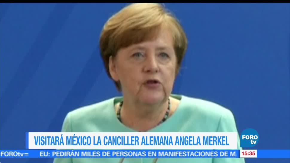 Canciller, alemana, Angela Merkel, visitará, México, Alemania