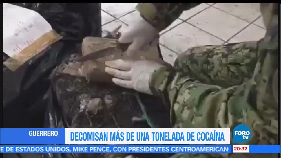 noticias, forotv, Aseguran, una tonelada, coca, playa de Barra Vieja