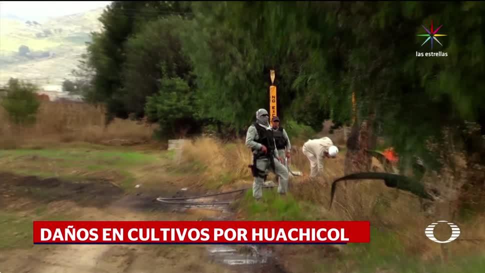 noticias, televisa, Daños, derrame de combustible, campos, Huejotzingo