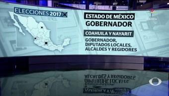 noticias, televisa, elecciones en cuatro estados, Estado de México, Coahuila, Nayarit y Veracruz