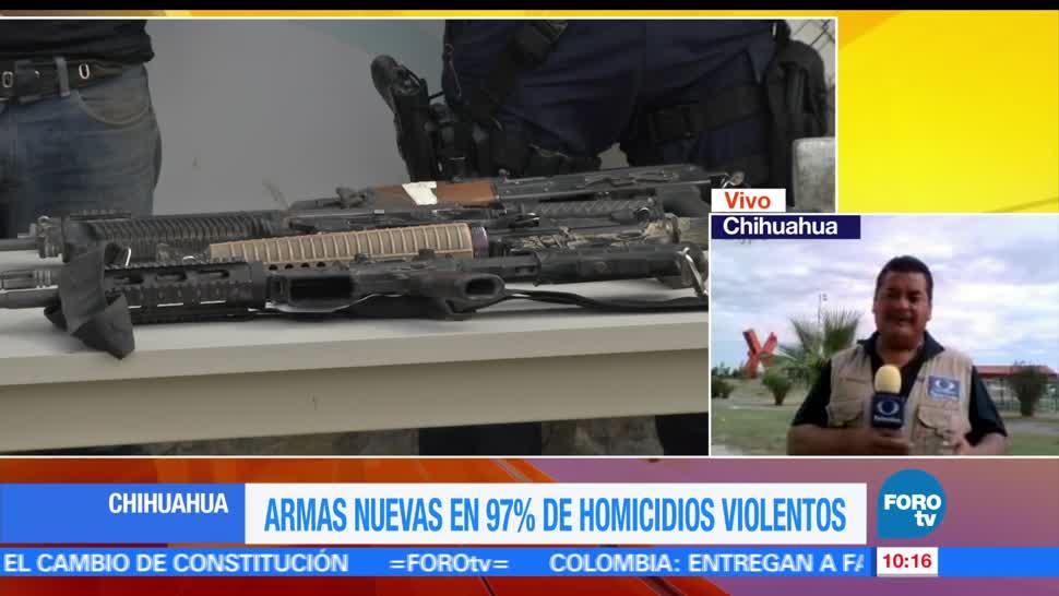 Homicidios, aumentan, tráfico de armas, Chihuahua