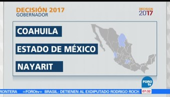 elecciones, Coahuila, Edomex, Nayarit, Veracruz, gobernador