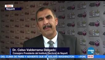 Mil 624 casillas, instaladas en Nayarit, consejero presidente, Instituto Electoral, Celso Valderrama