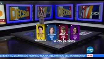 21 candidatos, gubernaturas, Coahuila, Edomex, Nayarit, mujeres