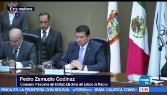 Pedro Zamudio, consejero presidente, Instituto Electoral, Estado de México, casillas