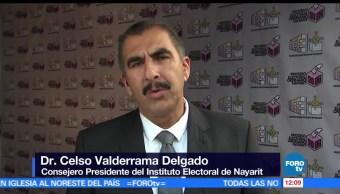 Celso Valderrama, consejero presidente, Instituto Electoral, Nayarit,