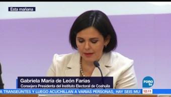 Gabriela María, consejera presidenta, Instituto Electoral, Coahuila