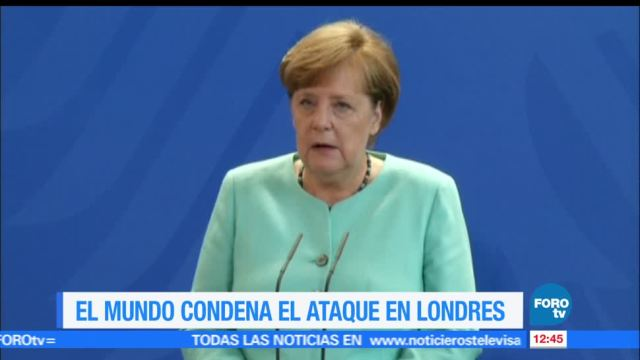 Angela Merkel, Emmanuel Macron, Vladimir Putin, papa Francisco, ataques en Londres, víctimas
