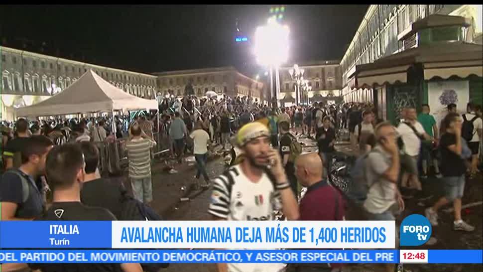 heridos, estampida humana, Italia, falsa alerta, alerta de bomba