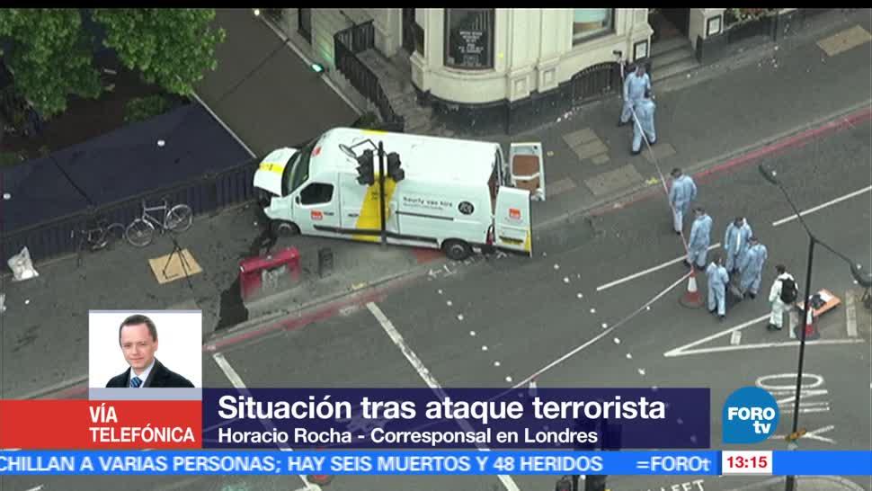 camioneta, ataque, London Bridge, labores de peritos