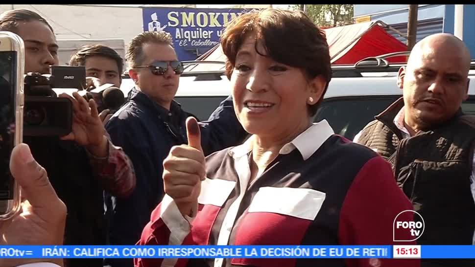 noticias, forotv, Delfina Gómez, vota, Texcoco, morena