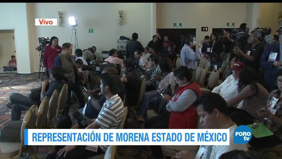 Delfina Gómez, espera, oficinas, Morena, resultados, proceso electoral