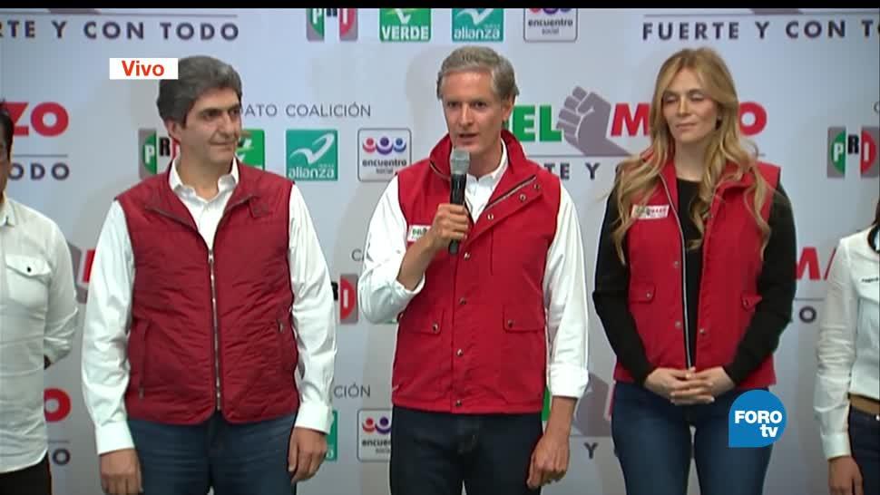 El candidato del PRI, Alfredo del Mazo, encuestas de salida, ventaja