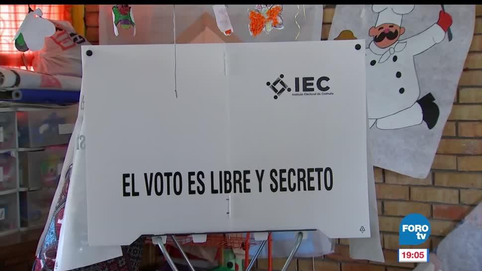 Inicia, conteo, votos, Coahuila, elecciones, votaciones