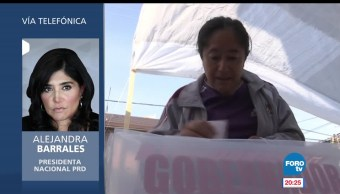 PRD, creció, electoralmente, jornada electoral, Alejandra Barrales