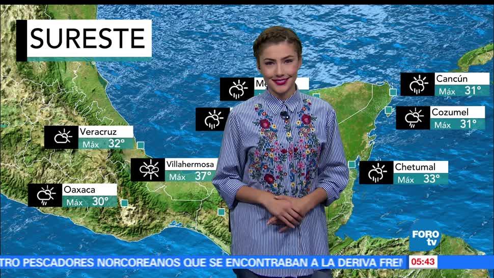 noticias, televisa, El clima, Daniela Álvarez, clima, lluvias