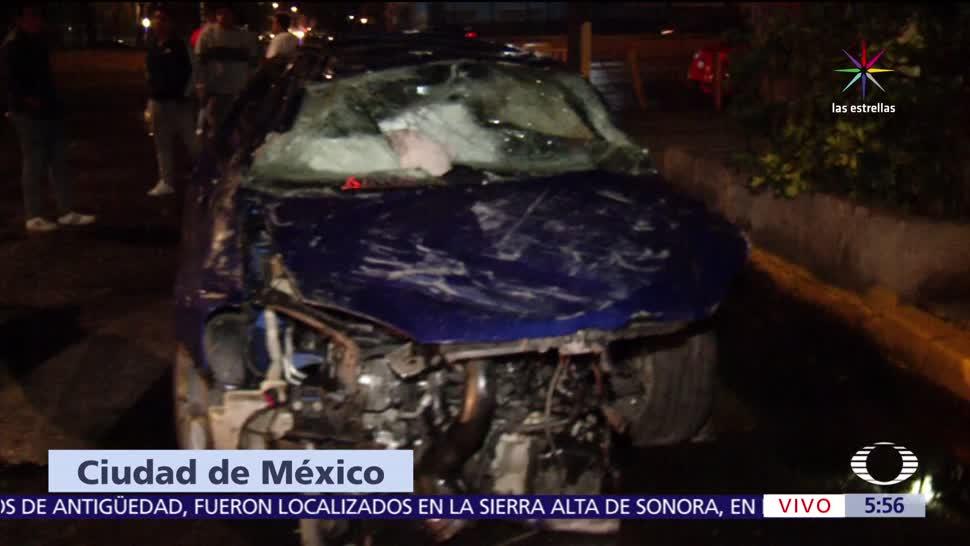 noticias, forotv, Volcaduras, Circuito Interior, CDMX, dos heridos